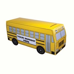 School Bus Bank with Pre-Printed Stock graphic