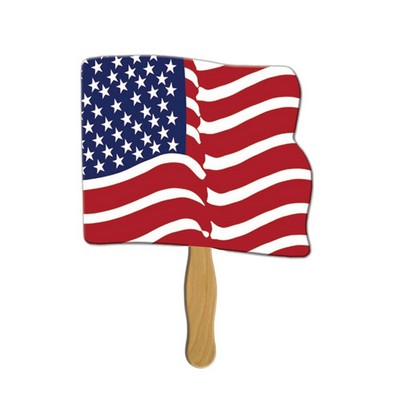 Flag Sandwiched Hand Fan Full Color