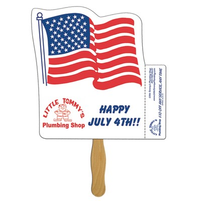 Flag Coupon Hand Fan Stock Graphic