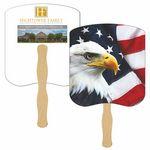 Custom American Eagle Hand Fan Full Color (2 Sides)