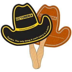 Cowboy Hat Recycled Hand Fan