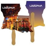 Custom Louisiana State Hand Fan Full Color (2 Sides)