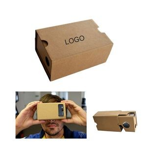 Compact Cardboard 3D Virtual Reality Glasses