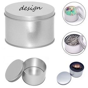 12oz Round Metal Tin Containers