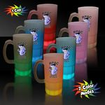 Custom 20 Oz. Multi-Colored Neon Look Beer Mugs