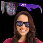 Custom Mardi Gras Beads Purple Billboard Sunglasses