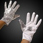 Custom Silver Sequined Glove - Left Hand