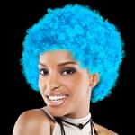 Custom Light Blue Team Spirit Wig