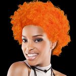 Custom Orange Team Spirit Wig
