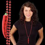 Custom Red Chili Pepper Bead Necklace