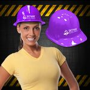 Custom Purple Plastic Construction Hat