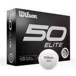 Custom Wilson Staff 50 Elite Golf Ball - Dozen Box