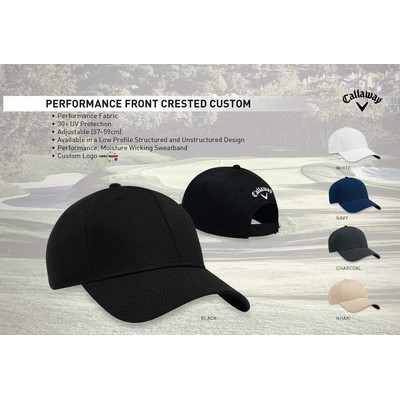 Callaway Men's Performance Custom Crested Golf Cap - Custom Front Logo