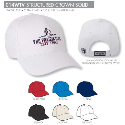 Ahead Chino Twill Solid Golf Cap - Blank