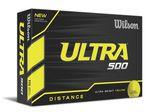 Custom Wilson Ultra 500 Golf YELLOW Ball - Dozen Box
