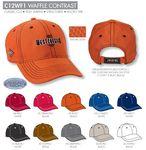 Custom Ahead Waffle Contrast Golf Cap - Blank