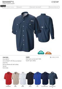 Columbia Mens Bahama II Long Sleeve Shirt - Blank