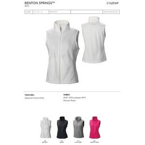 Columbia Ladies Benton Springs Full Zip Fleece Vest - Blank