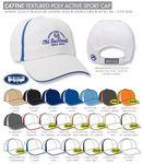 Custom Ahead Textured Poly Active Sport Golf Cap - Blank