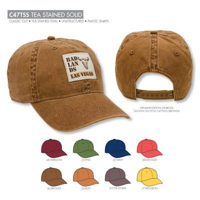 Ahead Tea Stained Solid Golf Cap - Blank