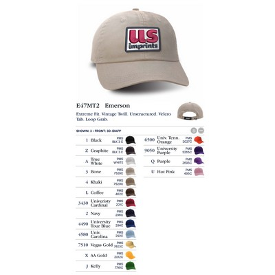 Ahead Extreme Vintage Twill Solid Golf Cap - Blank