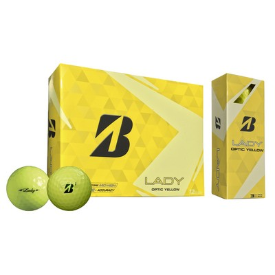 Bridgestone Lady Golf Ball (Yellow) - Dozen Box