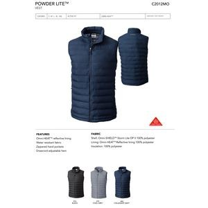 Columbia Lake 22 Full Zip Vest- Blank