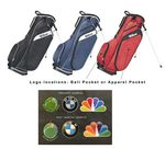 Custom Wilson Profile Carry Stand Golf Bag - Embroidered on Ball pocket