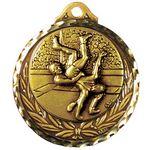 Custom Stock Diamond Struck Medal (Wrestling) 2 3/4