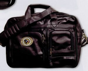Leatherette Multi Pocket Attache w/ 2 Club Lorente Medallion