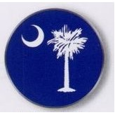 Stock Ball Markers (South Carolina Flag)