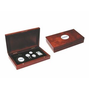 Rosewood Golf Kit with Bag Tag, repair tool, hat clip, money clip, ball marker