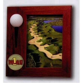 Rosewood Finish Hole In One Frame 5X7
