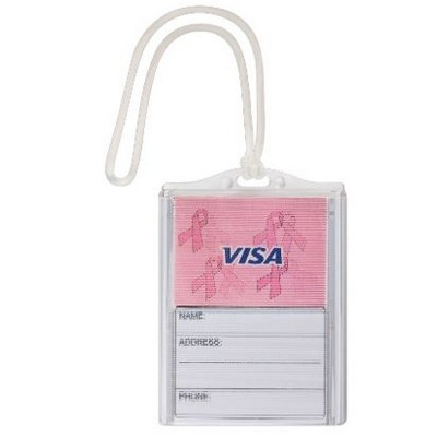 The Logo in Motion Bag Tag - Breast Cancer Awareness