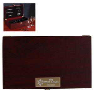 Wine and Glass Rosewood Set
