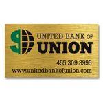 Custom Brushed Gold Business Card Magnet