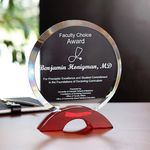 Custom Ruby Circle Award