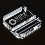 Custom Square Crystal Phone Stand Paperweight