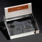 Custom 3D Crystal Business Card Holder