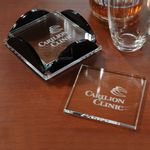 Custom Square Glass Coaster Set