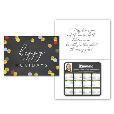 Greeting Card with Magnetic Calendar
