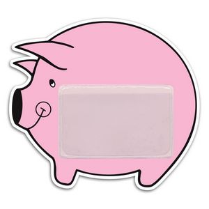 Custom Piggy Bank Pocket Magnet