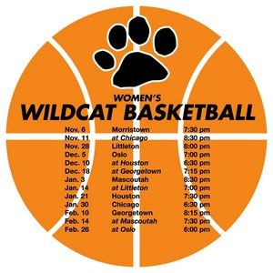 Schedule Basketball Magnet