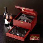 Custom Rosewood Wine Glass Set