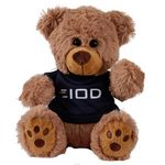 Custom Plush Bear w/ Embroidered Paws and T-Shirt
