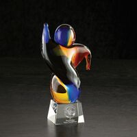 "523965521-116 - Eureka Art Glass Crystal Award (5""x9""x3"") - thumbnail"