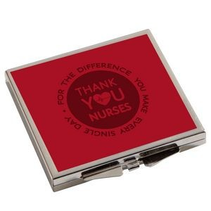 Square Metal Compact Mirror