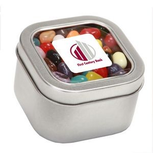 Jelly Belly® Candy in Lg Square Window Tin