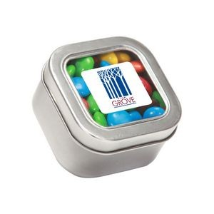 M&Ms® Plain in Sm Square Window Tin