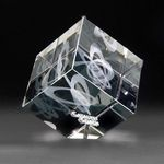 Custom 3D Crystal Jewel Cube Medium Award